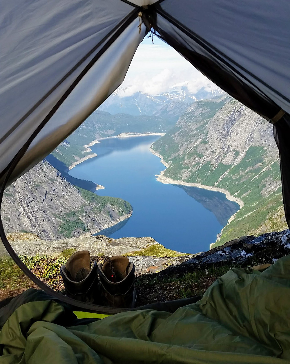 Camping is free when traveling to Norway