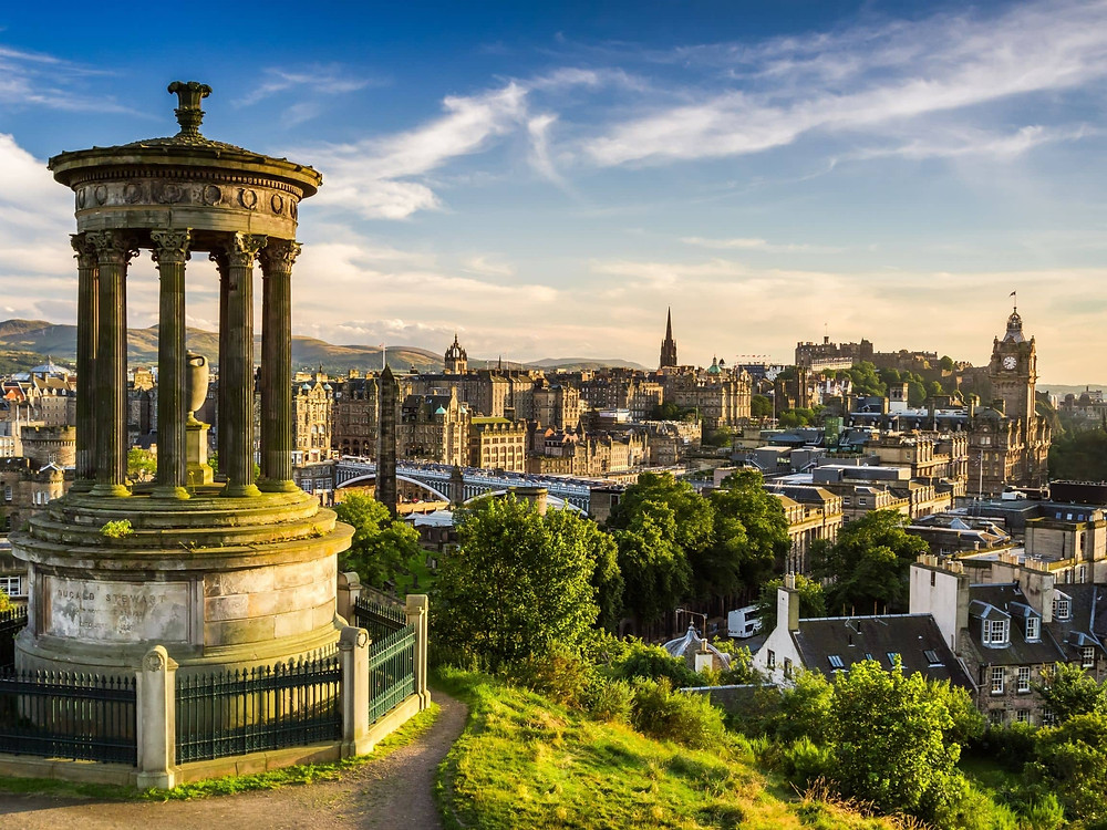Edinburgh as seen from Carlton Hill, one of the best European cities to visit