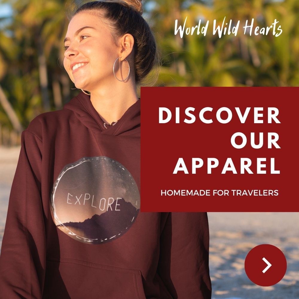 World Wild Hearts travel apparel store