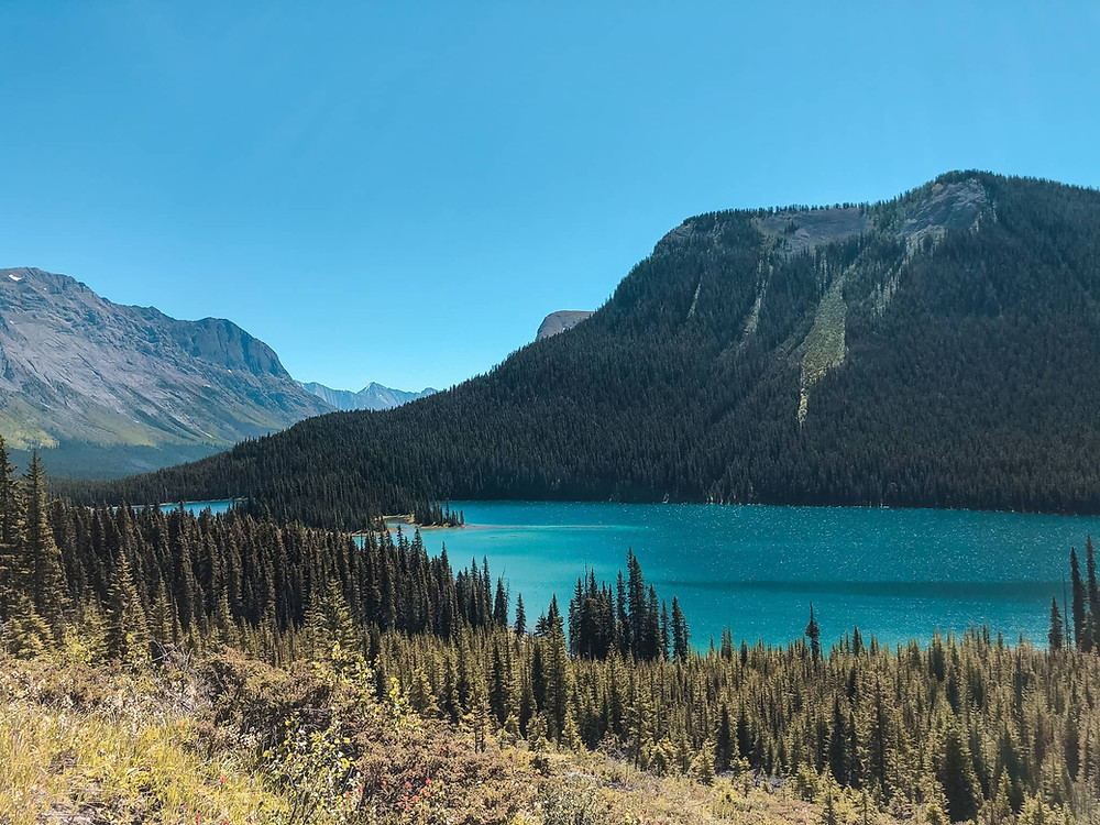 Marvel Lake view from the hike out of Mount Assinibione Provincial Park