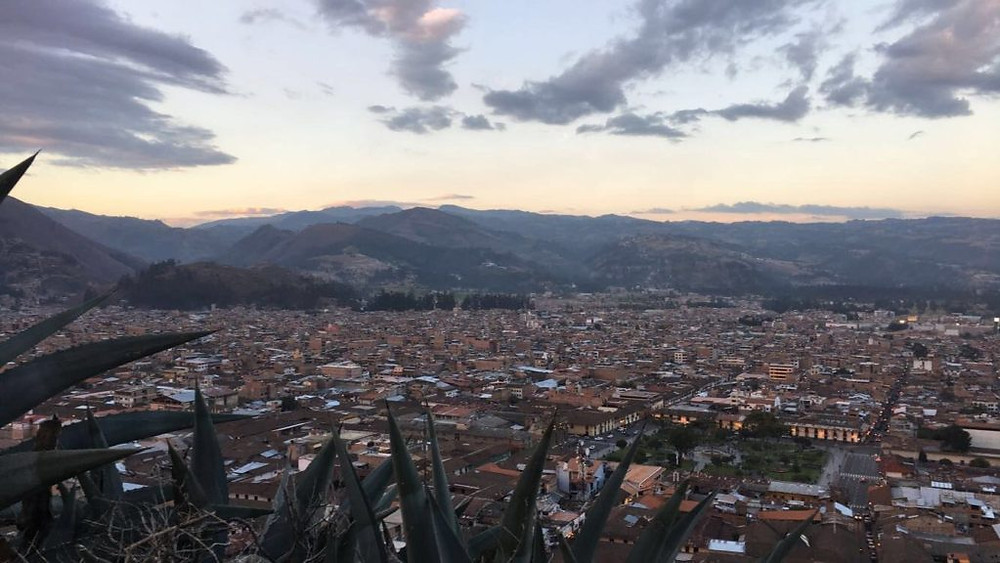 Cajamarca Peru sunset