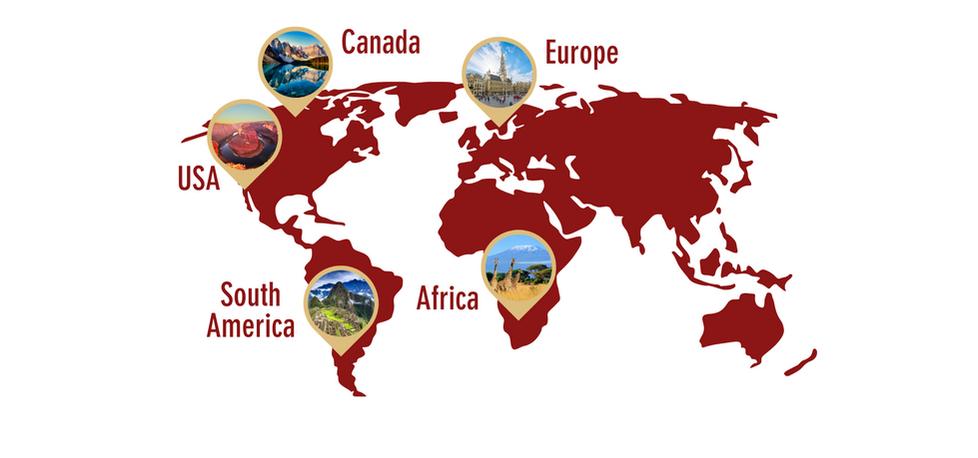 World Map Destinations