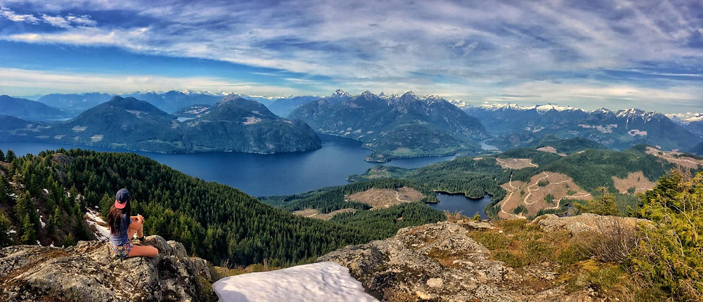 View from Tin Hat Mountain along the Sunshine Coast Trail in BC