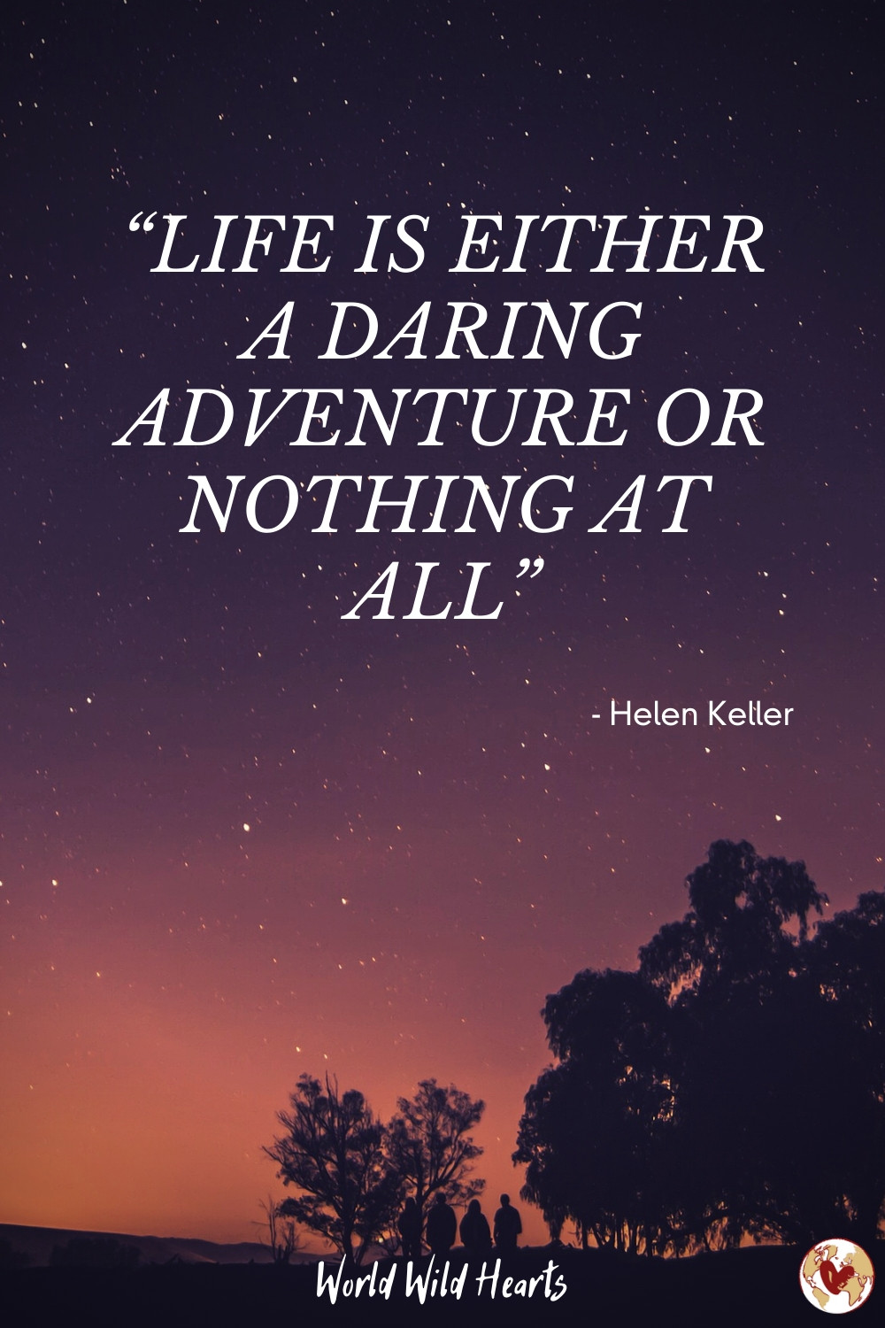 Inspirational travel quote with image