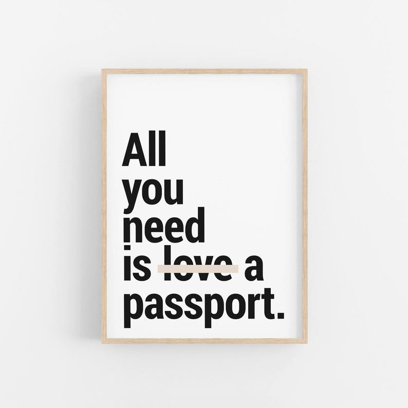 Funny travel quote about love