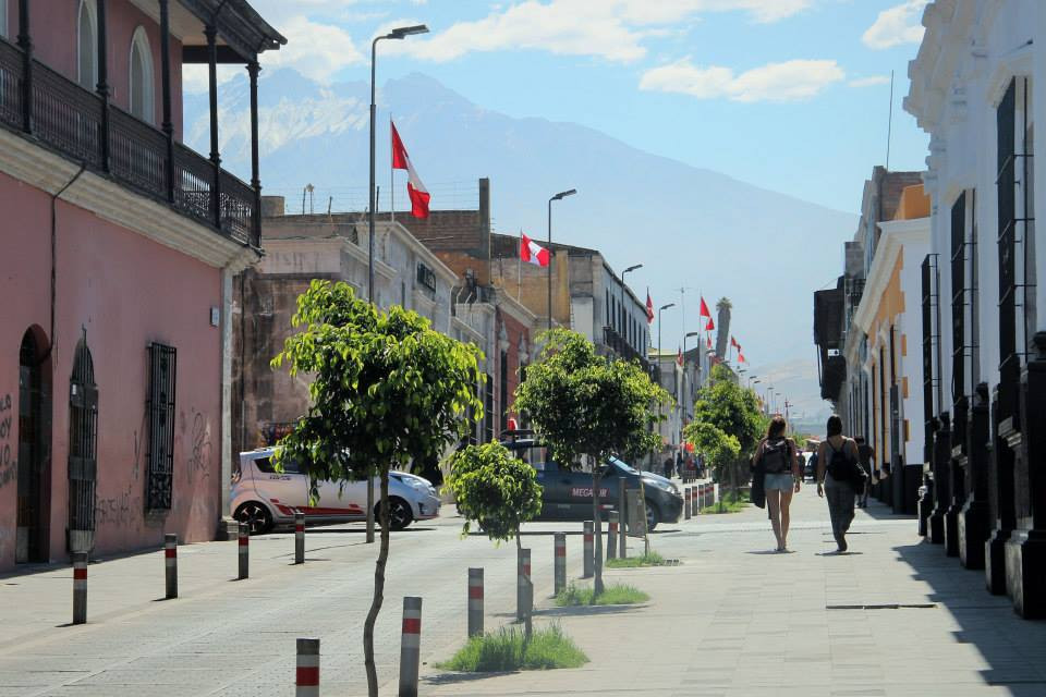 the Historical Center of Arequipa in peru