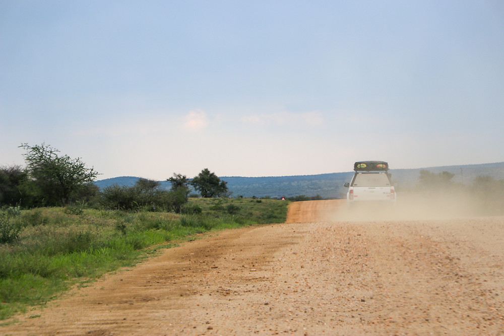 Namibia by 4x4 jeep with roof tent Toyota Hilux