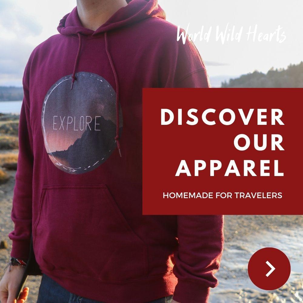travel inspired apparel
