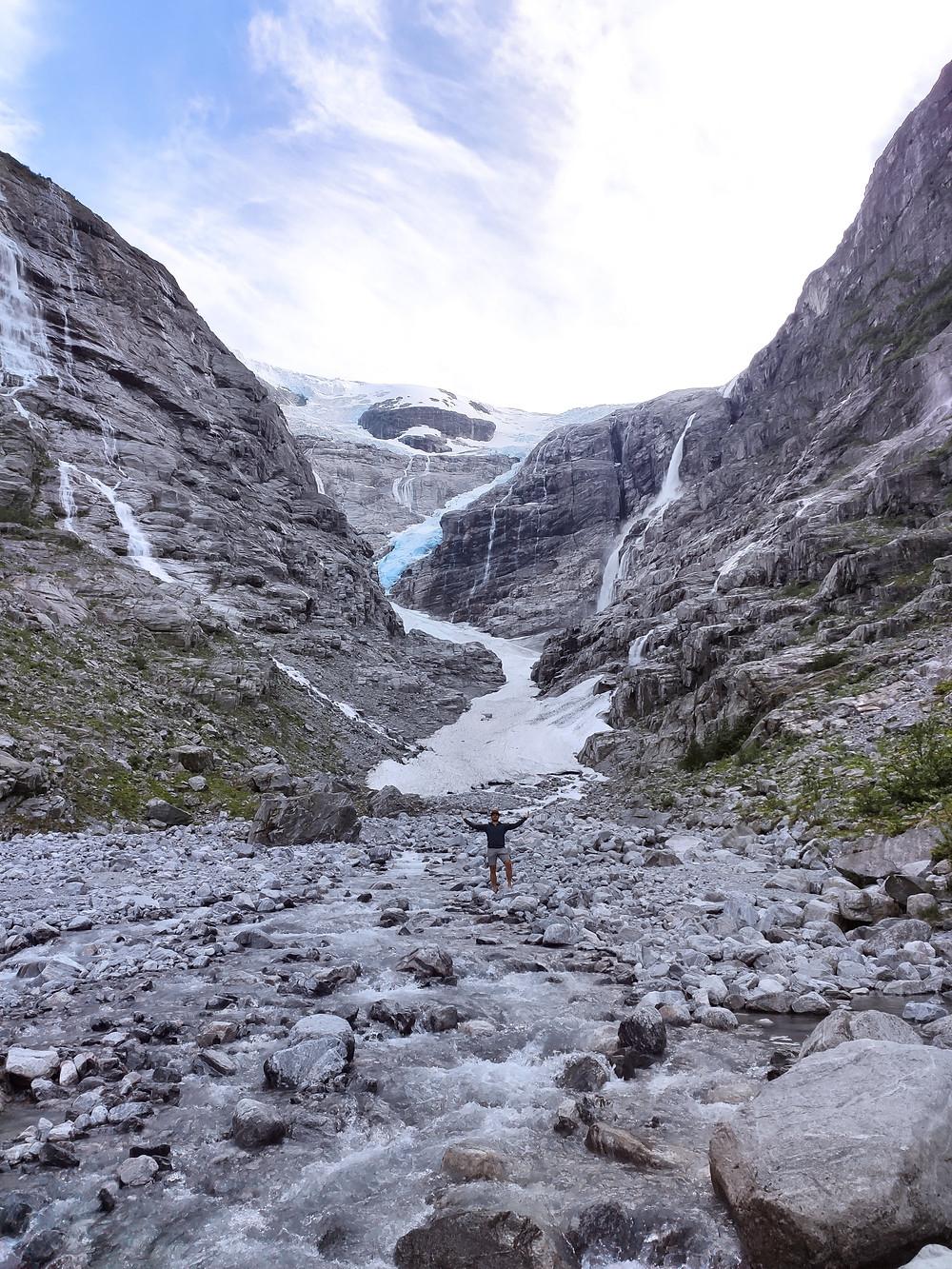 Kjenndals Glacier in Lovatnet Western Norway
