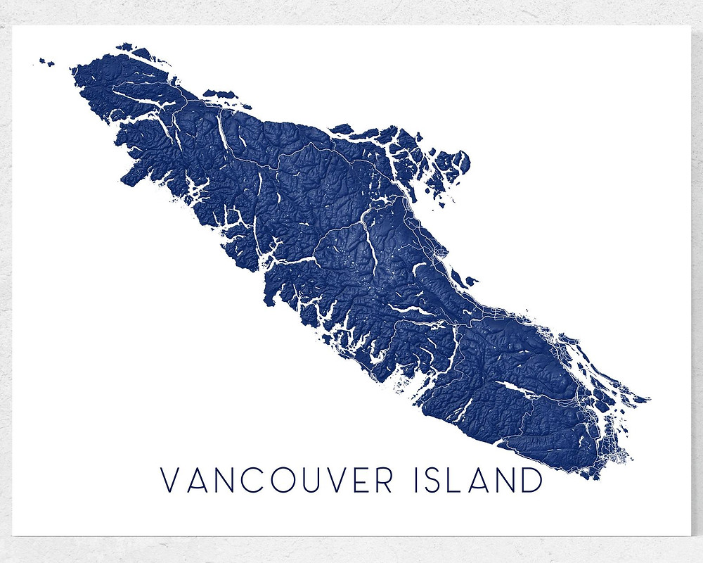 Victoria and Vancouver Island map