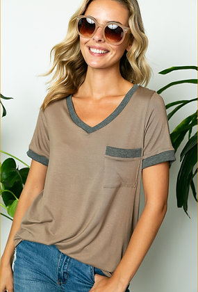 Taupe Grey Top