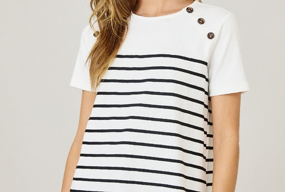 Stripe Color Block Top