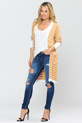 Gold Stripe Cardigan