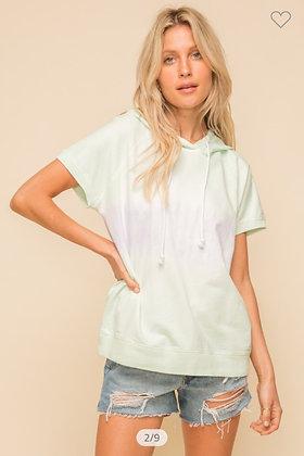 Mint + Lavender Tie Dye Hoodie