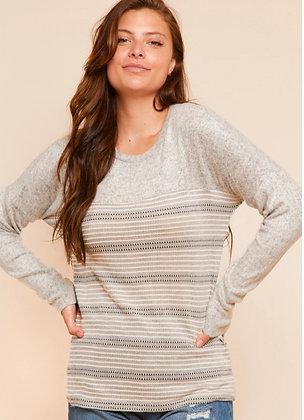 Grey Stripe Sweater