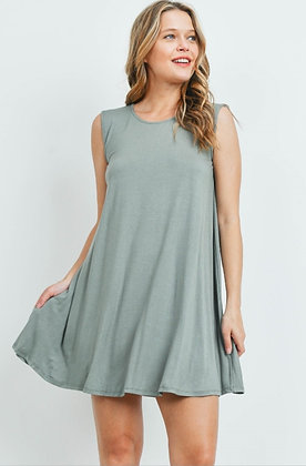 Sage Sleeveless Dress