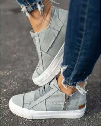 Grey Zip Shoes