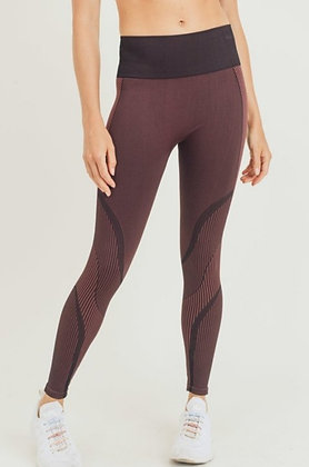 Maroon Athletic Leggings