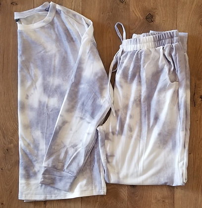 Grey Tie-Dye Lounge Set