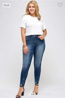 Curvy Dark Wash Jeans