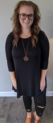 Curvy Black Tunic