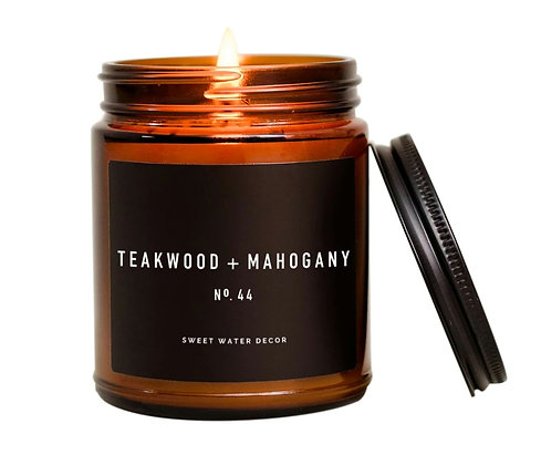Teakwood & Mahogany Candle