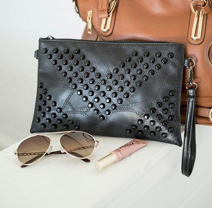 Black Studded Clutch