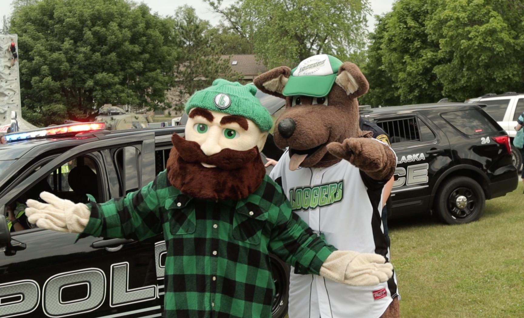 Mascots at Community Days