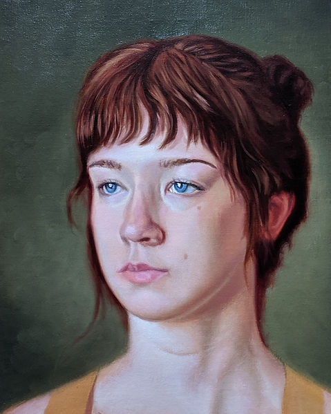 Female portrait oil painting realism figurativeyoung woman