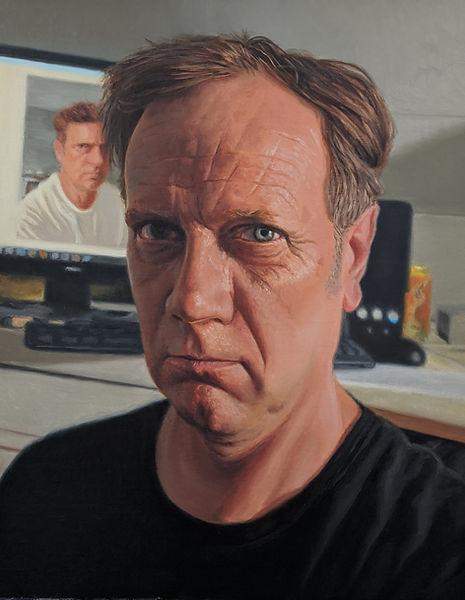 oil portrait art hyper-realism painting Loren Chantland