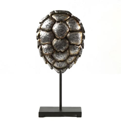 Schildpadschild op voetstuk