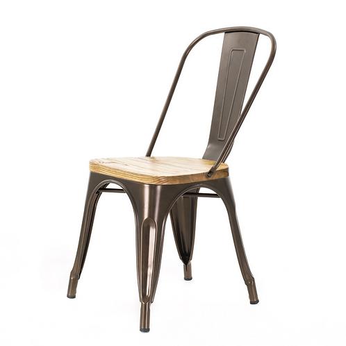 café stoel met houtenzitting