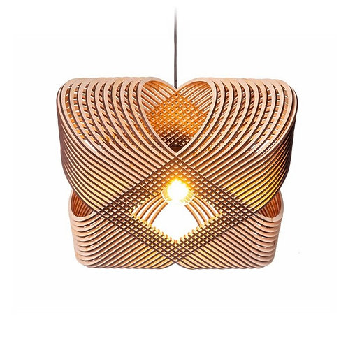 houten designhanglamp