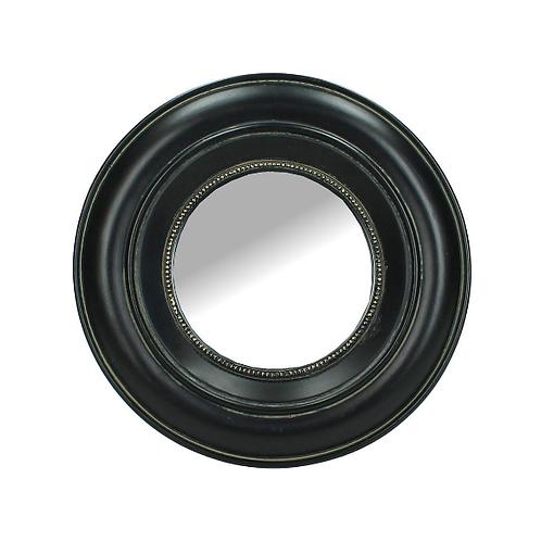 Ronde spiegel met Zwarte Omlijsting, 17,5 cm