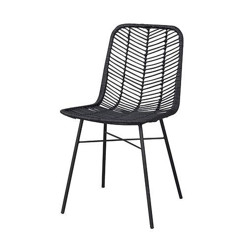 Manado Stoel - Rotan - Zwart & Wit(grijs)