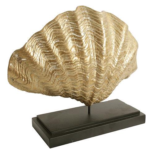 Golden Shell op standaard - H=30,18,15cm