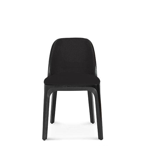Lotte - Houten eetkamerstoel met bekleding - Zwart