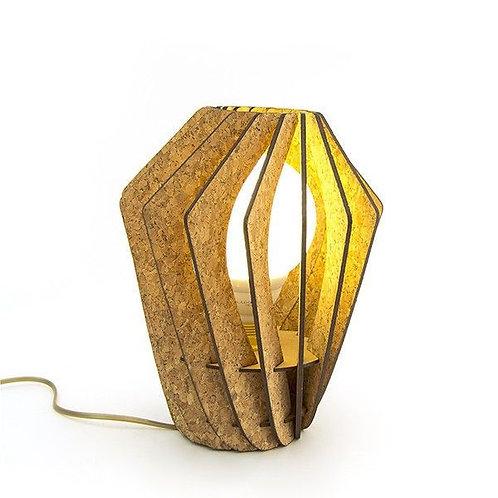kurk lamellen staande lamp