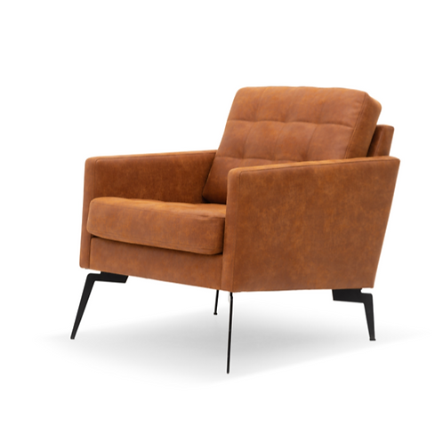 Luxe cognac fauteuil