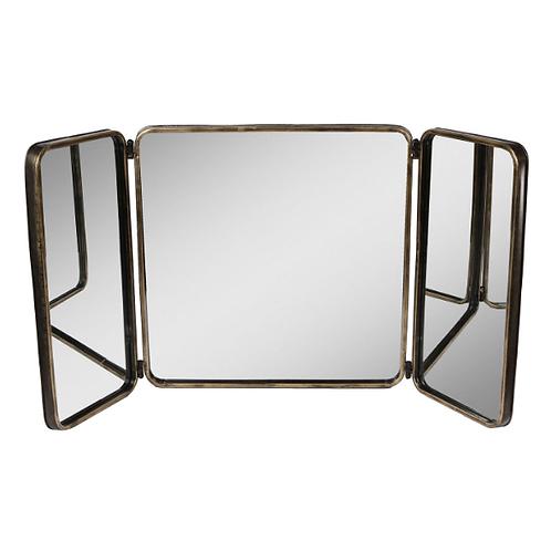 Spiegel 3-Luik Metaal 63x6,5x61cm