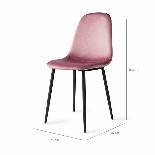 Liss Stoel - Roze Velvet - set van 2