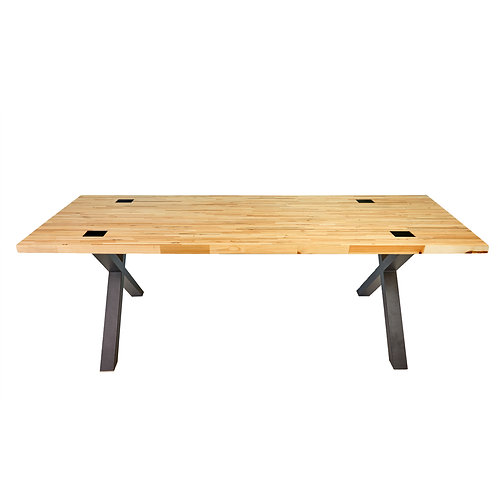 Abello Table -Kruispoot - Pallethout - Geperst