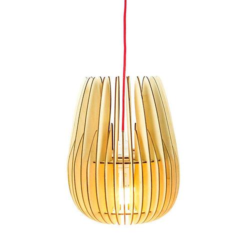 houten lamellen hanglamp
