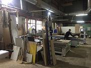 Часть производства фабрики мебели.