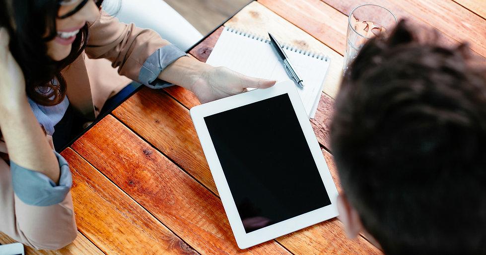Lavorare su un tablet