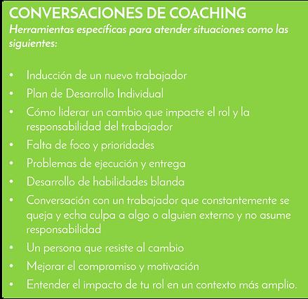 Conversaciones de coching según casuística