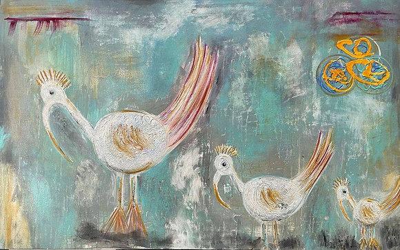 The White Lovebird Family
