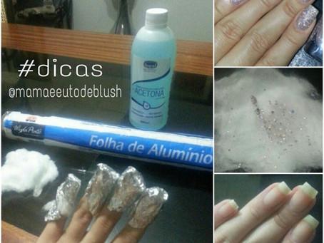 Como retirar esmalte de glitter por @Mamaeeutodeblush #ProjetoFavoritosBlogueiras