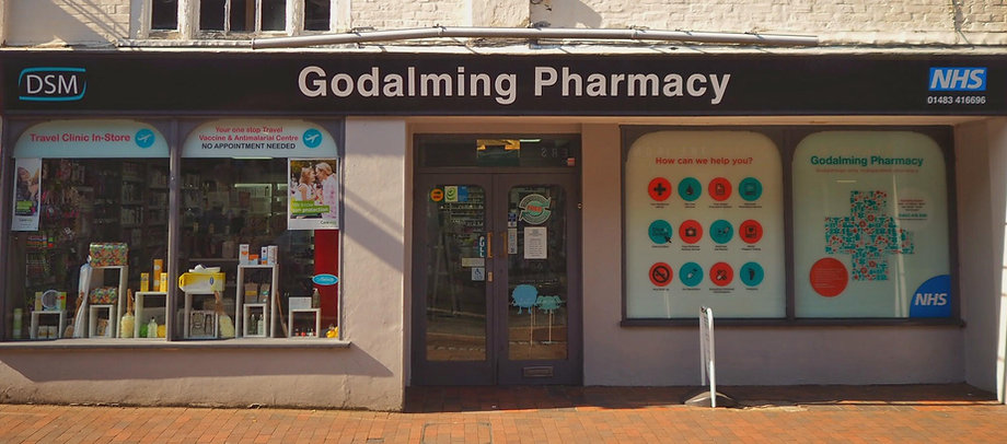 Godalming Pharamacy Shop Front