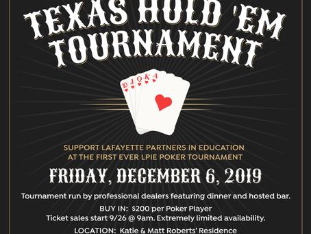Texas Hold 'Em- December 6, 2019